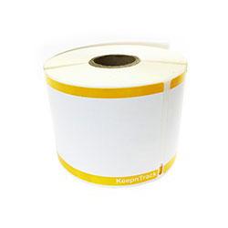 Yellow Stripe Badge Label